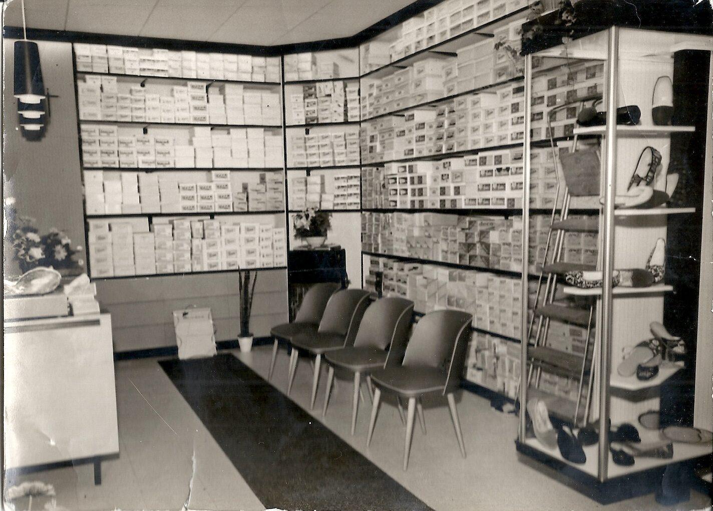 Een kijkje in de vroegere winkel